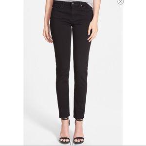 AG Black The Prima Mid-Rise Cigarette Skinny Jean